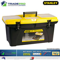 Stanley® Jumbo Tool Box 56cm Easy Grip Removable Tray Metal Latches & Orgainiser