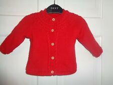 TU Girls Red Fleece Lined Cardigan - 3-6 Months