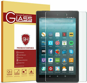 Tempered Glass Screen Protector For ALL Amazon Kindle Fire (HD) 7 8 10 2015-20