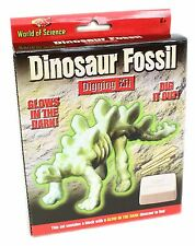 World of Science Glow in the Dark Dinosaur Fossil Excavation Kit Palaeontology Set