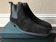 NWB Crockett & Jones Black Suede Chelsea Boots Lingfield 8.5 D Made in England
