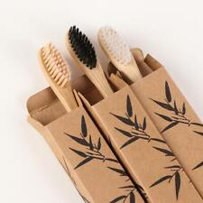 1PC Wooden Toothbrush Solid Bamboo Handle Soft Fibre Eco-Friendly Teeth Brushes