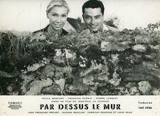 SILVIA MONFORT  FRANCOIS GUERIN PAR-DESSUS LE MUR 1961 VINTAGE PHOTO ORIGINAL
