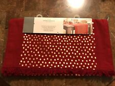 Tablecloth Runner Kitchen Dining Red Gold Polka Dots Threshold New Party Dining