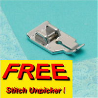SEWING MACHINE 1/4 INCH QUILTING ATTACHMENT PRESSER FOOT + FREE UNPICKER sa/6