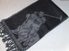 POLO RALPH LAUREN Men's Wool-Blend Big Pony Scarf, Muffler, Italy, GRAY, GREY