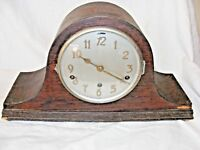 ANTIQUE WORKING NAPOLEON HAT MANTEL CLOCK BY FONTENOY WESTMINSTER CHIMES