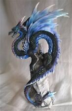 SAPPHIRE SENTINEL DRAGON FIGURE - ANDREW BILL DESIGN - NEMESIS NOW ANIMAL MODEL