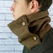 Yorkshire Wool Tweed Neckwarmer Scarf - Brown Birdseye