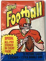 1983 Topps Football Unopened Wax Pack Marcus Allen Rookie/Joe Montana sticker?*