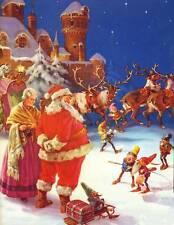 Santa and Mrs Claus Elves at North Pole 2 Christmas