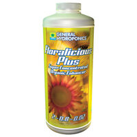 General Hydroponics Floralicious Plus 1 Quart qt 32oz - grow root nutrient