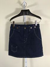 Junya Watanabe 2012 Deconstructed Denim Work Carpenter Skirt S Suspenders