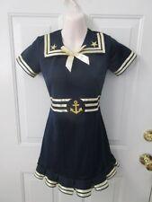 Navy Blue Gold Sailor Dress Dance Costume Tap MT Jazz Large Child LC
