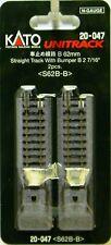 "NIB N Kato #20-047 Unitrack 2 7/16"" 62mm Straight Track w/Bumper 'B' 2 Pcs"