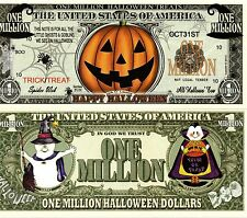 Halloween - Jack O'Lantern Million Halloween Dollar Novelty Money