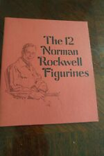 The 12 Norman Rockwell Collection Porcelain Figurines Booklet Book Danbury Mint