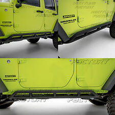 Jeep JK 07-17 Wrangler 4 Door ONLY Rock Crawler Side Slider Armor Rocker Guards