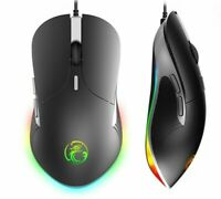 Wired LED Gaming Mouse Adjustable DPI Slim Ergonomic RGB Design High Quality New