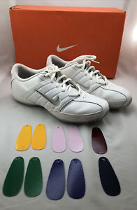 Nike Women's Sideline Cheer Shoes with Box & Inserts Size 8.5 Cheerleading White