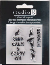 Beware Crows and Keep Calm Clear Stamps Studio G    BO