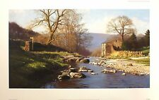 "PETER SYMONDS ""Forever England"" river cottage SIGNED! SIZE:51cm x 82cm NEW RARE"