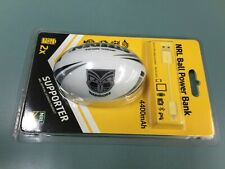 NRL Steeden Rechargeable Phone Charger Power bank WARRIORS x 2-DUAL USB Gift!