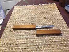 Vintage Floating Fish Knife, Wood Handle, Stainless Steel Blade, Japan
