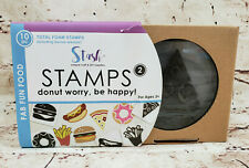 Stash Total Foam Stamps Dont Worry Be Happy Fab Fun Food Set of 10 Pieces NEW