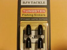 Bj'S Tackle Tungsten Worm Weights, Black, Choice of Sizes