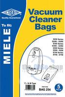 5 x MIELE Vacuum Cleaner Bags F, J & M Type S310i, S311i, S312i, S313i, S314i