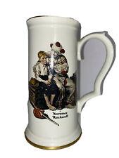 "Vintage Norman Rockwell'S ""The Runaway"" Beer Stein By Gorham"