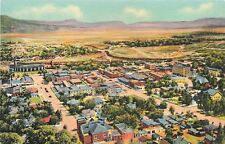 Raton New Mexico~Bird's Eye from Goat Hill~Homes~Business~1935 Linen Postcard