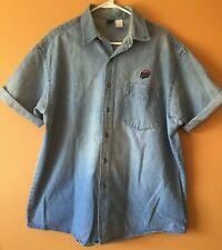 Vintage Pizza Hut Employee Uniform Shirt Denim Pizza Hut Employee Costume