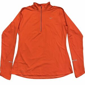 NIKE Element Running Dri-Fit Long Sleeve Top Women's Pullover 1/4 Zip Size L