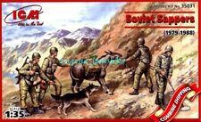 ICM 35031 Soviet Sappers (1979-1988) 4 Soldiers with dog and donkey figures 1/35