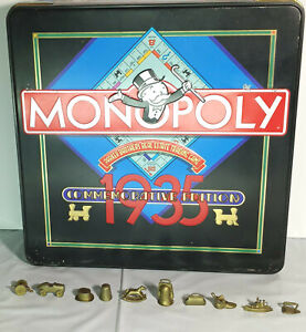 1935 Monopoly Commemorative Edition Gold Tokens Game Piece 10 Full Set