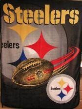 Pittsburgh Steelers NFL Micro Raschel Plush Throw 60X80 Blanket FREE US SHIPPING