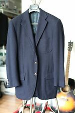 Polo Ralph Lauren Blue Label Navy Herringbone Wool Cashmere Blazer 38R Excellent