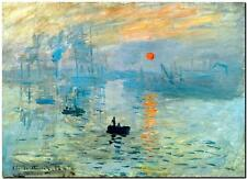 """CLAUDE MONET ~ Impression of the Sunrise *FRAMED* CANVAS PRINT Poster 24x16"""""""