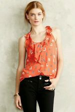 NEW Anthropologie MaeveWomen's Red/Orange  Aurelie Tank Size 6