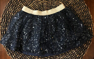 OshKosh Blue Sparkly Tulle Lace Layer Girls 2T Holiday Party Gold Elastic Skirt