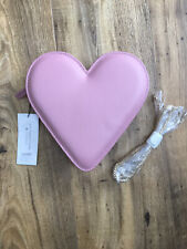 Lulu Guinness Freya Heart Bag In Nude Rose Colour New
