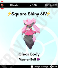 DIANCIE NORMAL / ⚡SHINY⚡ 6IV BATTLE READY - POKEMON SWORD AND SHIELD