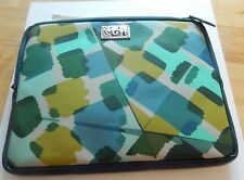 Brighton Painted  Box iPad Case/Cover- -padded  blues green white navy