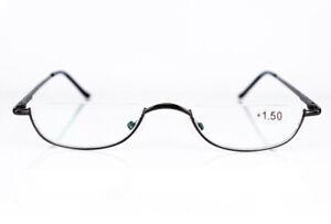 Men Casual Half Moon Vintage Reading Glasses Spring Hinges Readers +1.0 ~ + 3.5