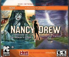 Nancy Drew SHADOW AT THE WATER'S EDGE + TRAIL OF THE TWISTER PC Game DVD-ROM NEW