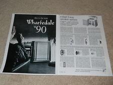 Wharfedale W90 Haut Parleur Ad, 1962, Articles, Infocus, 2 Pg , Rare Ad