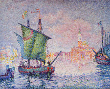 PAUL SIGNAC-THE PINK CLOUD - 24' toile