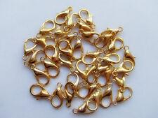 50pz moschettoni  colore oro  12x7mm